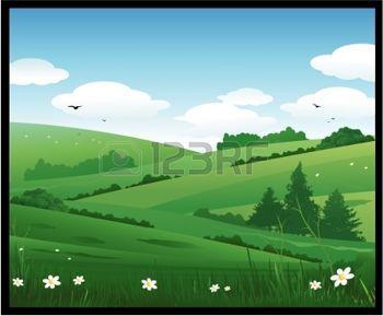 campagne: nature paysage illustration