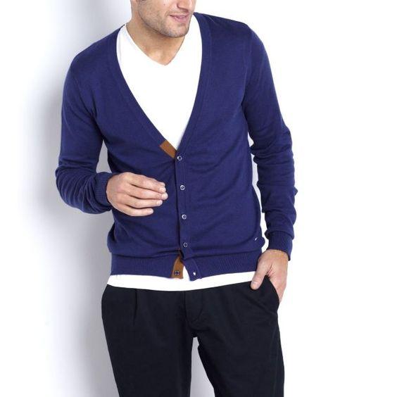 SOFT GREY | Gilet bleu | http://www.rienasemettre.fr/shopping-list/gilet-cardigan-homme-bleu/