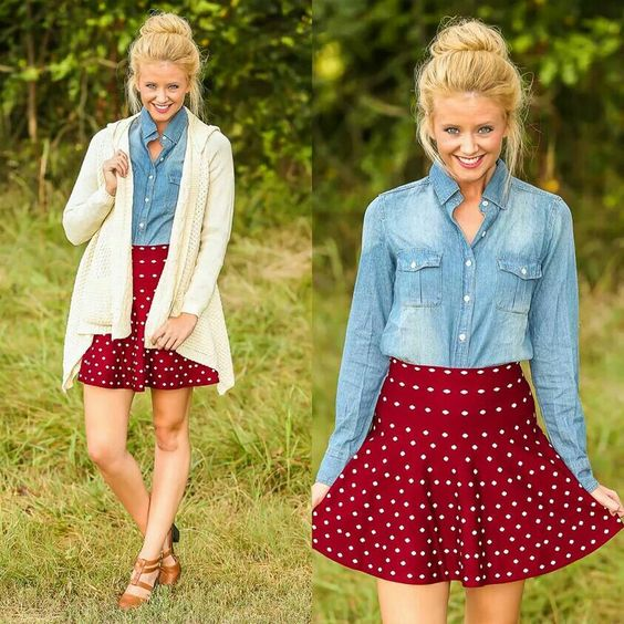 Cute outfit! If the skirt was longer it's be a sister missionary skirt!