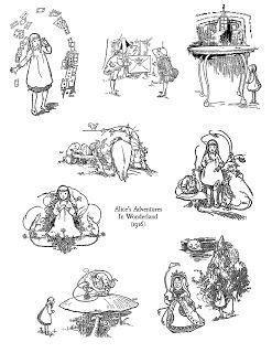 Ephemera's Vintage Garden: Freebie: Alice In Wonderland Digital Stamps