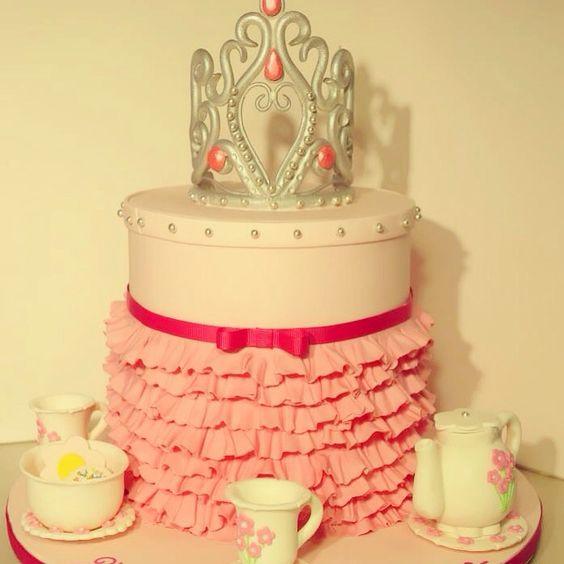 Princess tea party cake