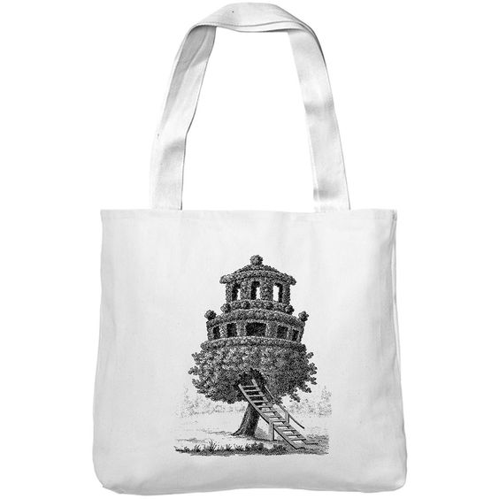 Mintage Amazing Tree House Museum Tote Bag