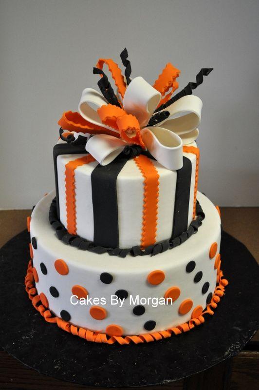 Halloween birthday cake  Morgans Cakes: Fondant Halloween Cake