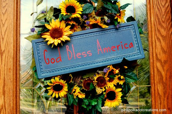 Why not Sunflowers and red, white and blue