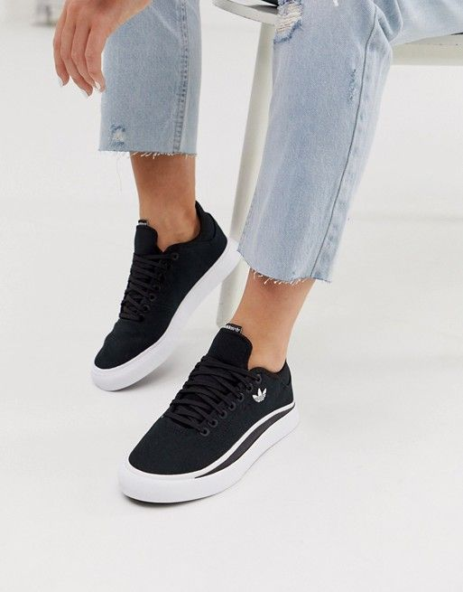 adidas Originals Sabalo trainer in black and white | ASOS | Yaz