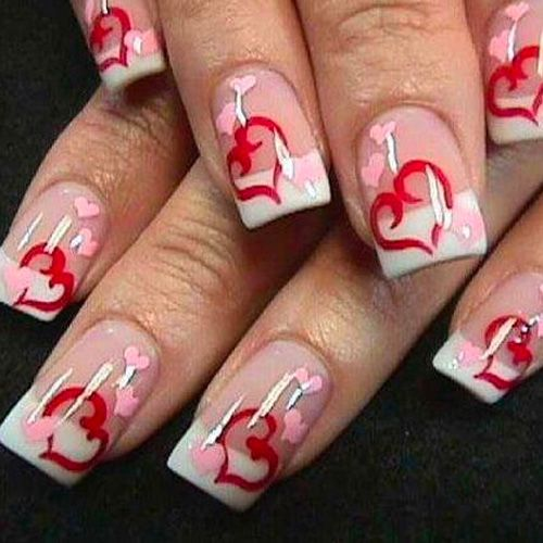 22 Best Valentine S Day Nail Designs For 2018 Nail Art Hq Valentines Nail Art Designs Valentine S Day Nail Designs Nail Designs Valentines