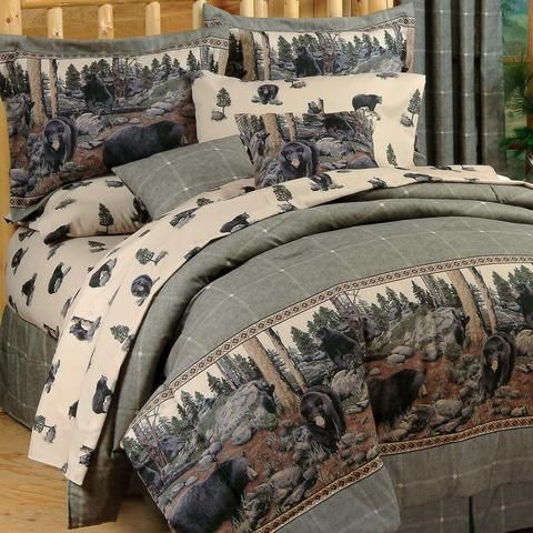 The Bears Queen Size Comforter and Sheet Bedding Set