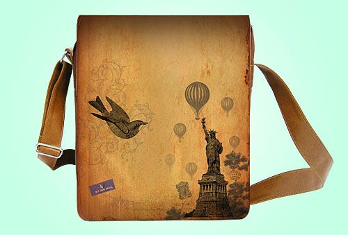 New York medium messenger bag--also can be used as laptop bag