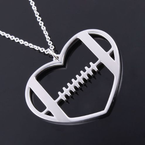 Stainless Steel Football Necklace