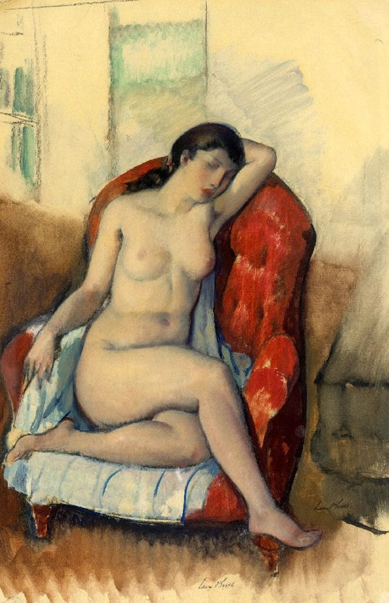 Leon kroll -  Seated nude