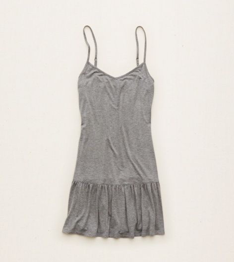 Dark Heather Grey Aerie Ruffle Nightie