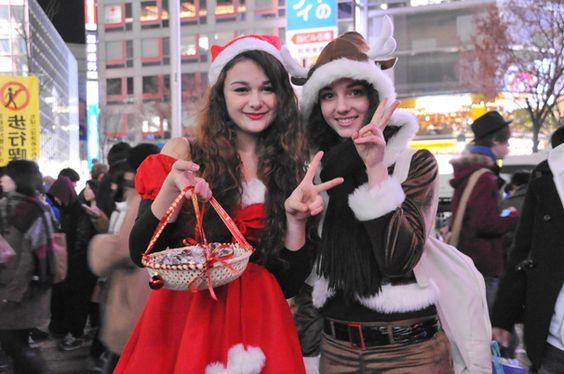 渋谷のサンタのコスプレ写真