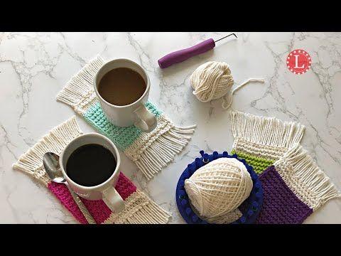 Loom Knitting Coaster Mug Rug Any Loom With 19 Pegs Round Or Long