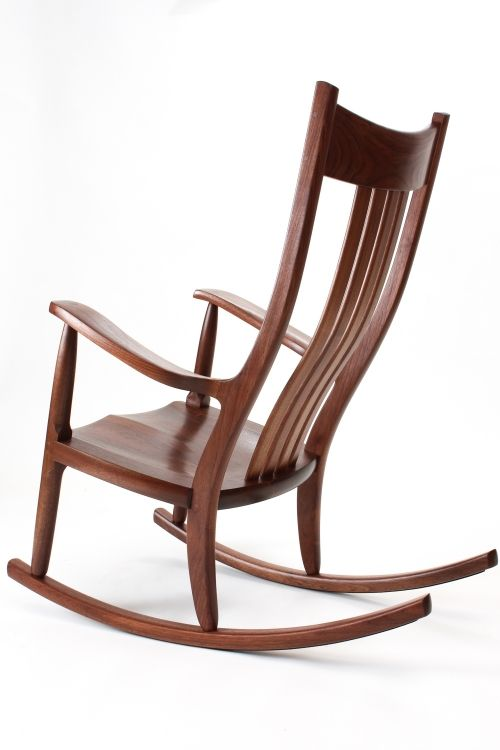Relaxing In A Rocking Chair Wood Rocking Chair Diy Rocking
