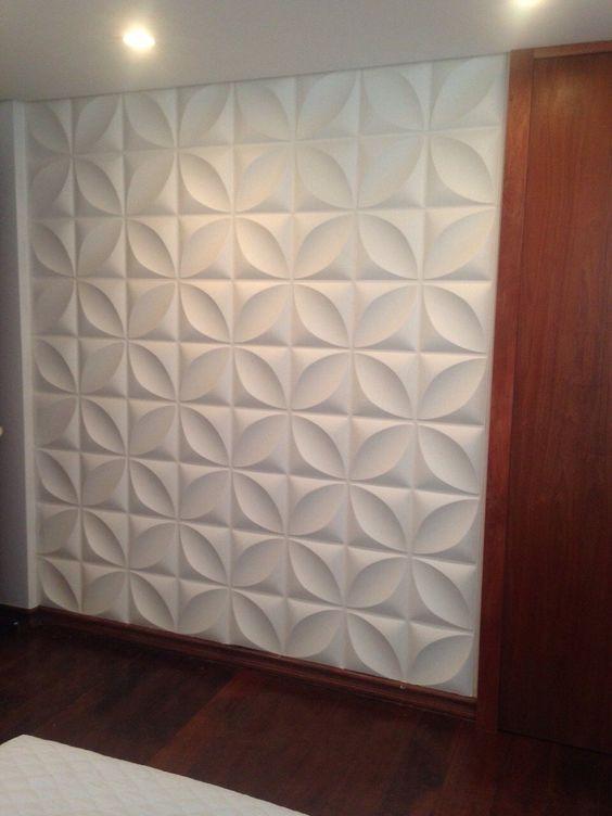 Gesso 3d novidade em revestimento de paredes com pain is - Placas para paredes ...