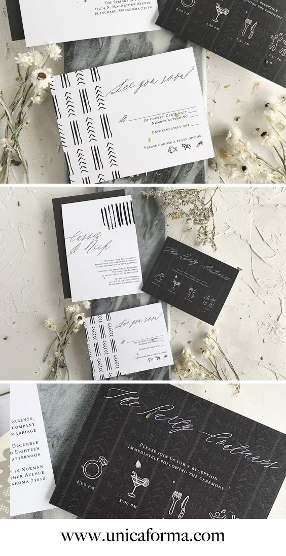 Mudcloth Wedding Invitations Wedding Invitations Boho Cheap Wedding Invitations Diy Wedding Invitations Diy
