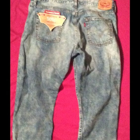 Levi's original fit women's straight leg  size 29 For sale is a pair of Ladie's Levi's tapered leg/ button fly  customized and tappered leg.... waist size -29...they are made to wear down or fold for boyfriend jeans, it was bought with worn look, My daughter never wore these, she purchased them at Dillard's for 52.00 but posh price is just 19.00 Low enough these are new! Levi Pants Straight Leg