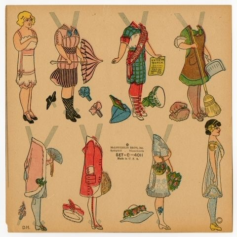 75.2180: Set - C - 4011 | paper doll | Paper Dolls | Dolls | Online Collections | The Strong