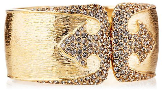 Golden Deco Bracelet | Jewelry by Ciner | One Kings Lane