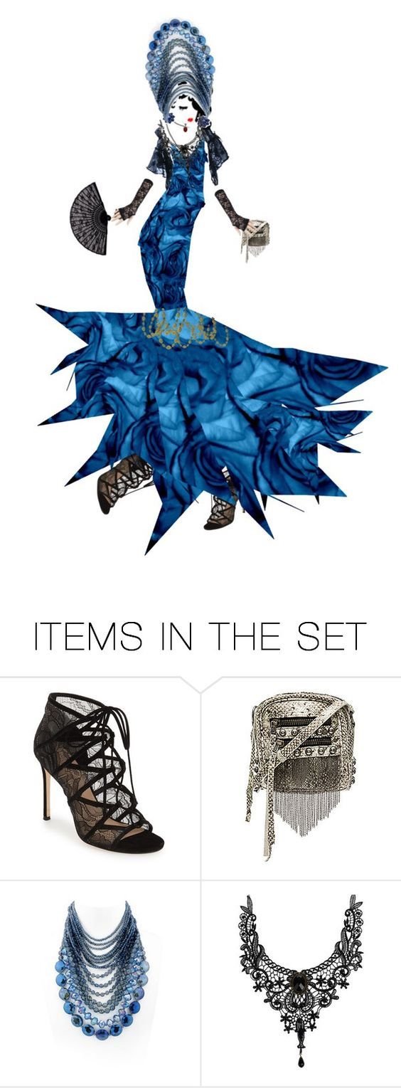 """Blue Roses & Lace!"" by diannecollier ❤ liked on Polyvore featuring art"