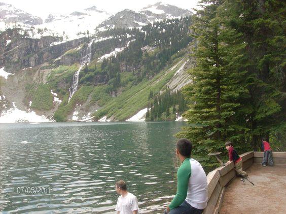 Rainy Lake in North Cascades, WA hiking, fishing, kayaking with my boys