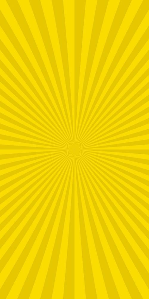 Yellow Abstract Sunburst Background From Radial Stripes Vector