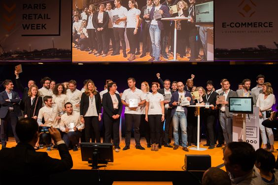Martine Pinville, French Secretary of State in charge of commerce, with all the winners of the E-Commerce Awards 2015. #ECP15 #ParisRetailWeek  #AWARDS