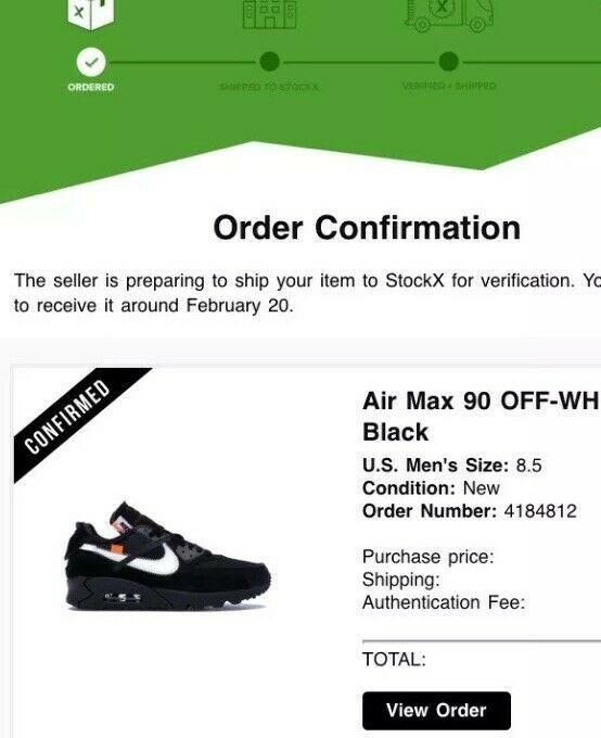 nike air max 90 off white black ebay