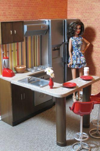 Ooak Kitchen Furniture For Fashion Royalty Barbie