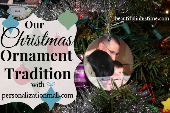 Our #Christmas #Ornament Tradition {with Personalization Mall}  #personalized #photoornament personalizationmall.com @PersonalizationMall.com (PMall.com)