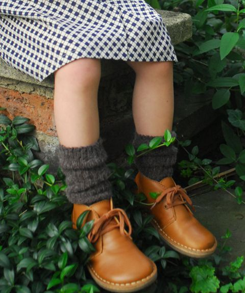 Desert Boots in Caramel Leather and wool socks