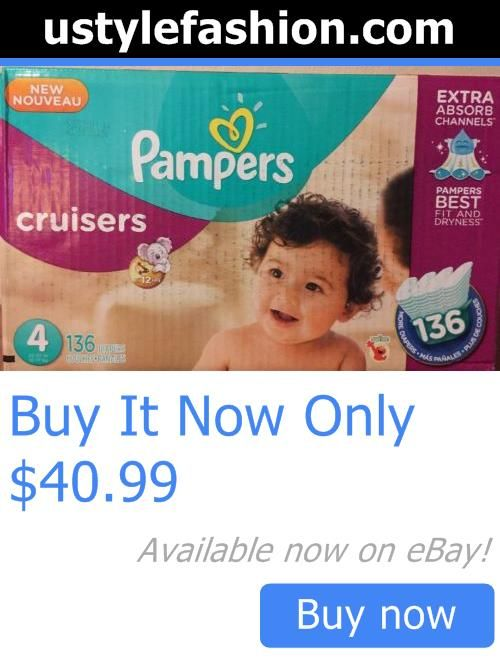 Baby Cloth Diapers: Pampers Cruisers Diapers Economy Pack, Size 4, 136 Count BUY IT NOW ONLY: $40.99 #ustylefashionBabyClothDiapers OR #ustylefashion