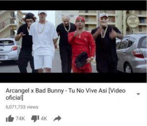 """Arcangel Y Bad Bunny Rompen Récords De Reproducciones Con """"Tu No Vive Así"""" - http://www.labluestar.com/arcangel-y-bad-bunny-rompen-records-de-repro…"""