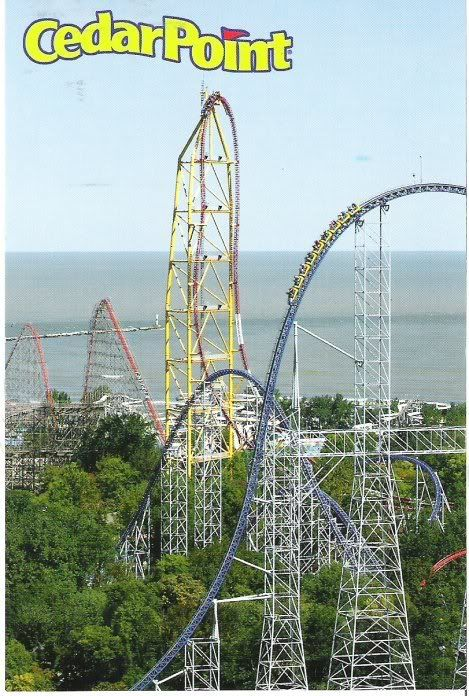 Cedar Point amusement park. Sandusky, Ohio.  Visit their website for more information.   www.cedarpoint.com