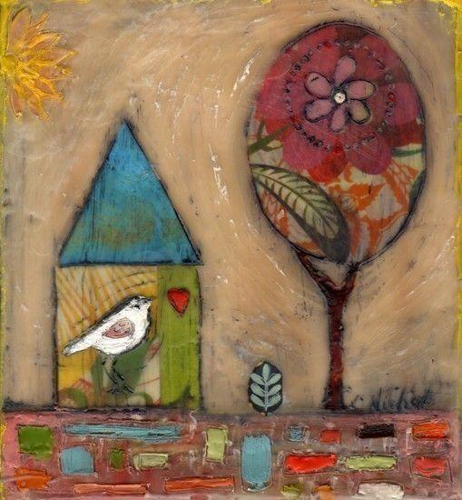 Cathy Nichols, encaustic painting