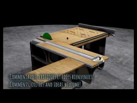 Intro Homemade Modular Table Saw Table De Sciage Modulaire Fait Maison Youtube Table De Sciage Plan De Travail Bois Table Modulable