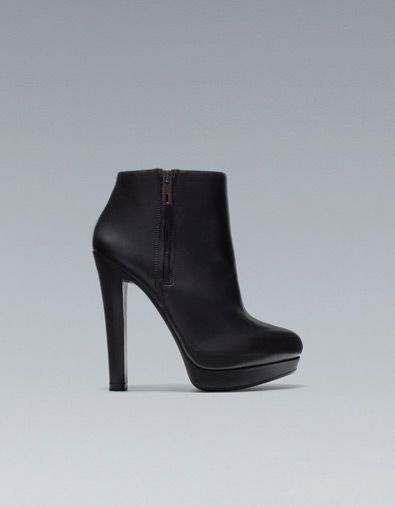 bottine gros talon chaussures femme zara france shoes pinterest zara bottines et. Black Bedroom Furniture Sets. Home Design Ideas