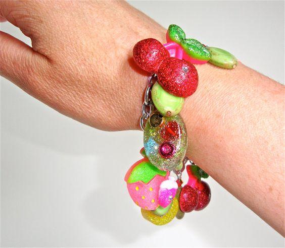 Sweet lolita kawaii resin and cabochon charm by sparklecityjewelry, $38.00