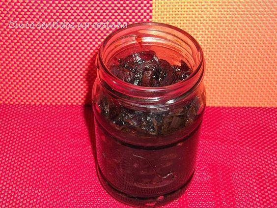 Compota de cebola- roxa com vinagre balsâmico