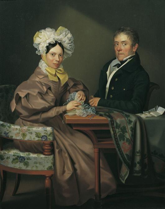 Porträt einer Dame und eines Herrn - Leopold Fertbauer, 1832