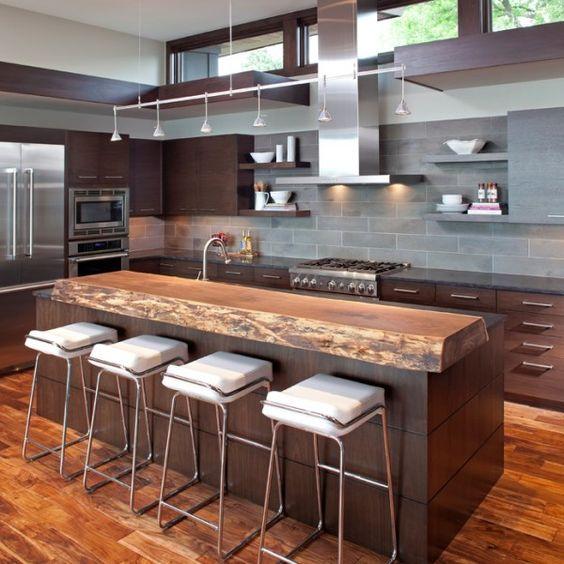 moderne küchen mit kochinsel kochinsel maße metall | küchen, Kuchen deko