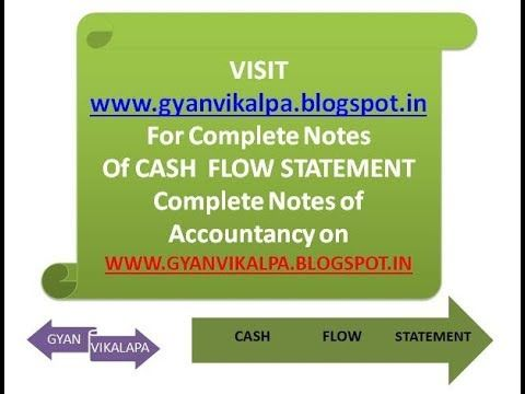 Introduction To Cash Flow Statement For Class  Bba BCom