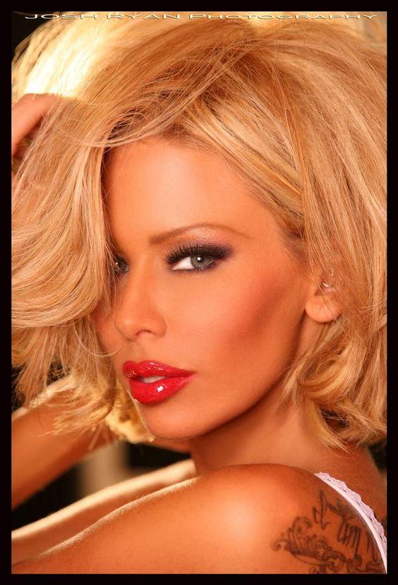 red lips makeup jenna jameson