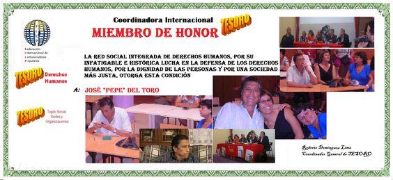 DH José del Toro Miembro de Honor