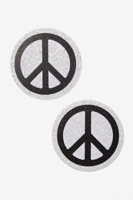 Pastease Pasties - Glitter Peace Signs | Shop Clothes at Nasty Gal!