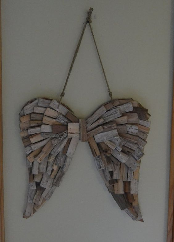 Driftwood Angel Wings Wedding Home Decor Angel Wings