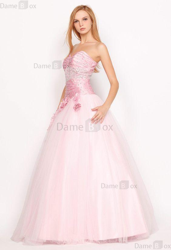 Prinzessin Tüll Apfelförmiges tiefe Taile romantisches Quinceañera Kleid - Damebox.com