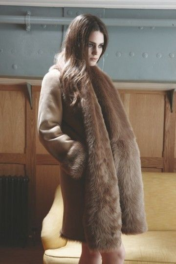 Gushlow &amp Cole AW13 Lookbook Toscana Coat sheepskin shearling
