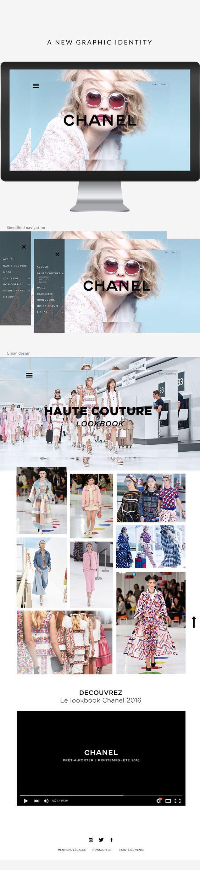Chanel website. UX/UI on Behance