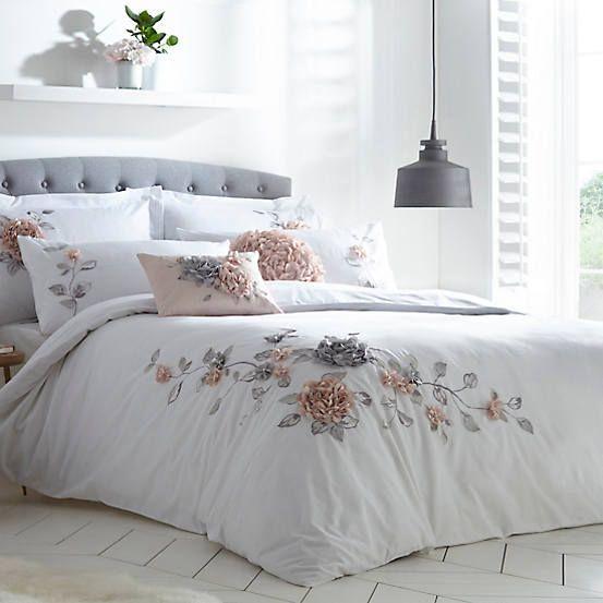 Vintage 3d Flower Embroidered Duvet Cover Standard Pillowcase Set Embroidered Duvet Cover Shabby Chic Bedroom Luxury Master Bedroom Design